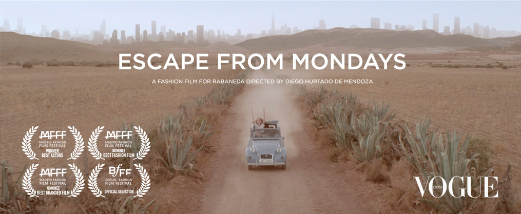 Escape from Mondays, a fashion film for Rabaneda directed by Diego Hurtado de Mendoza